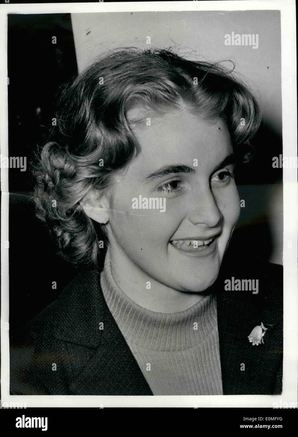 Jan. 01, 1955 - German envoy To London Recalled Daughter Will Keep Home: Herr Oskar Schitter the German Charge d'Affaires Stock Photo