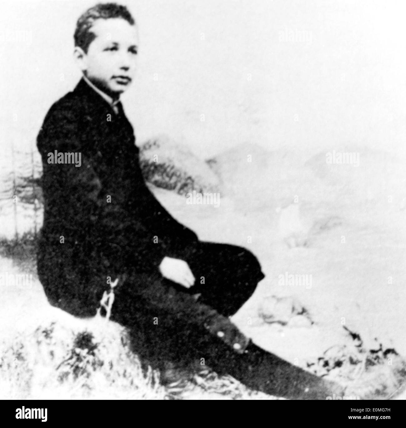 Albert Einstein at the age of 14 - Stock Image