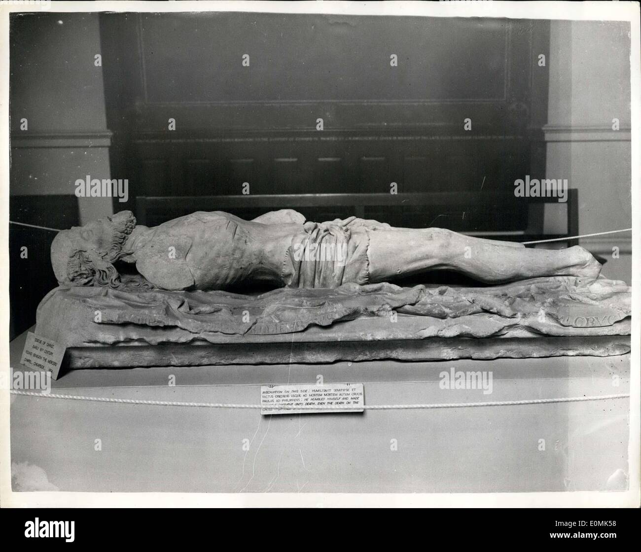 Oct. 04, 1955 - Archaeology exhibition in Royal Exchange.: An exhibition organised by the London and Middlesex Archaeological - Stock Image