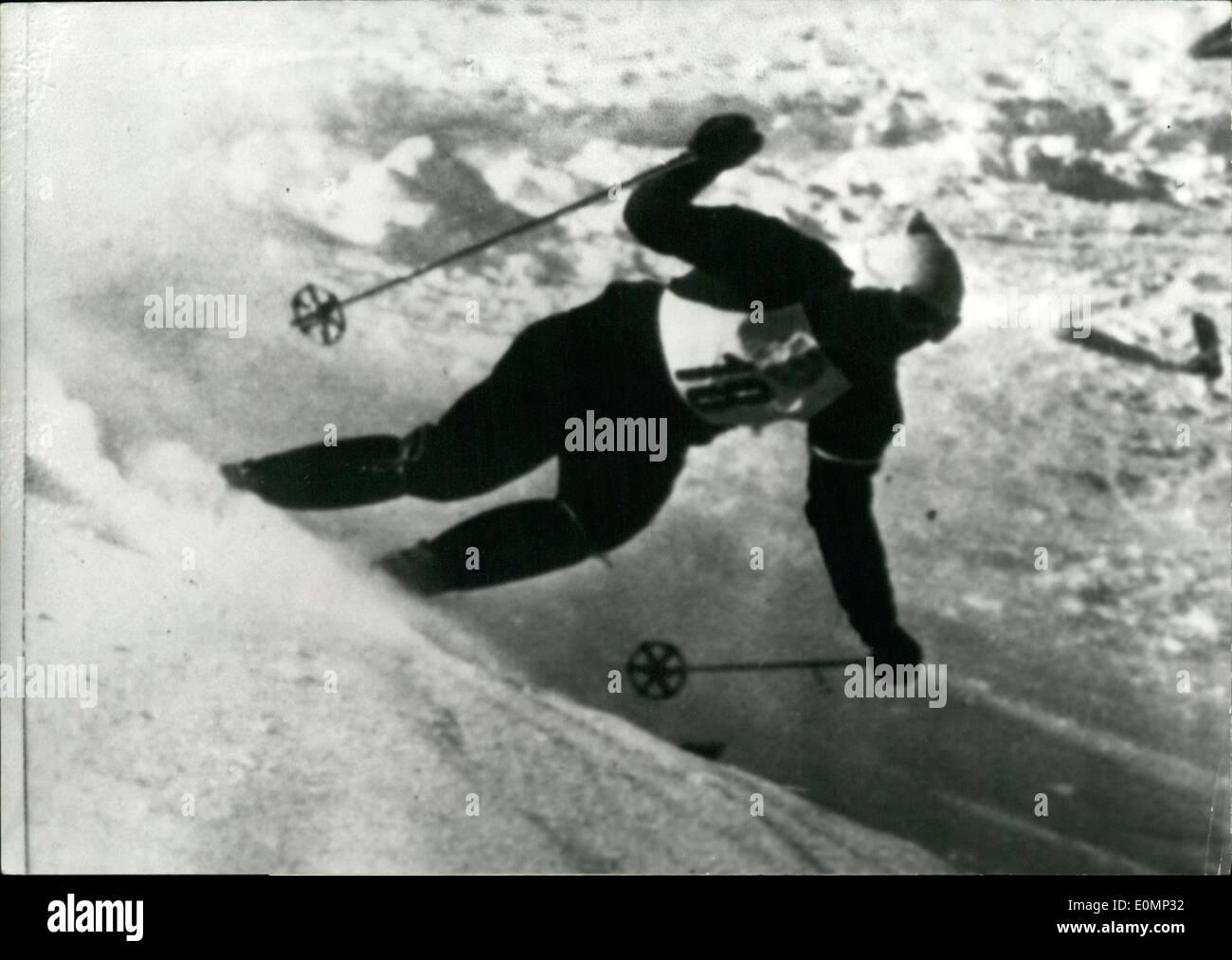 Jan. 31, 1956 - Sailer won the event. - Stock Image