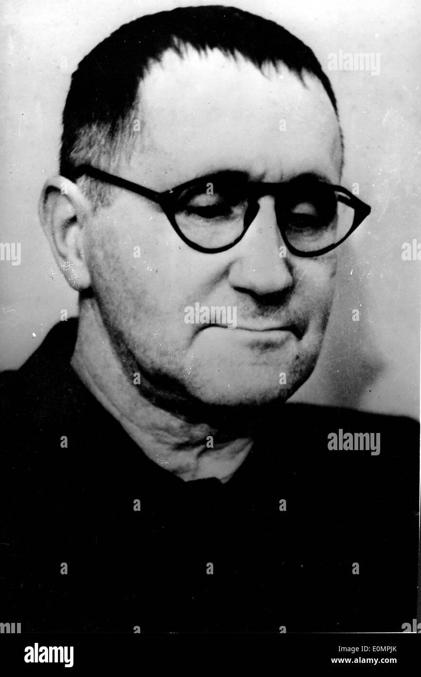 Poet, playwright Bertolt Brecht - Stock Image
