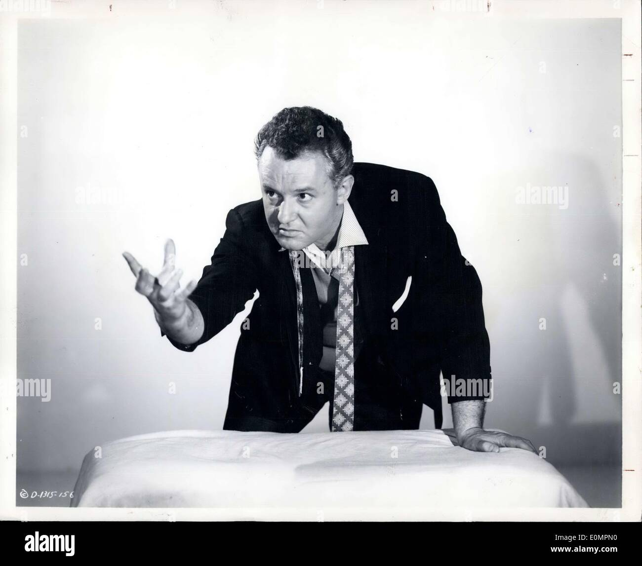 Apr. 29, 1956 - Rod Steiger, most dynamic young actor on the screen today, creates a memorable characterization of a snarling, conscience-less racketeer preying on the prize fight game in ''The Harder They Fail'', new feature at the Denver theater. Humphrey Bogart and Jon sterling also star in the blistering film attack on the fight racket. - Stock Image