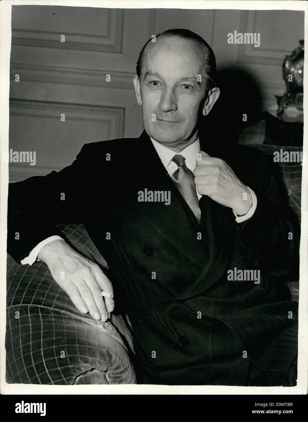 Jun. 06, 1956 - Sir Bernard Docker Is Sa B.S.A. Directors Decide By A: Small Majority: Sir Bernard Docker, millionaire indus - Stock Image