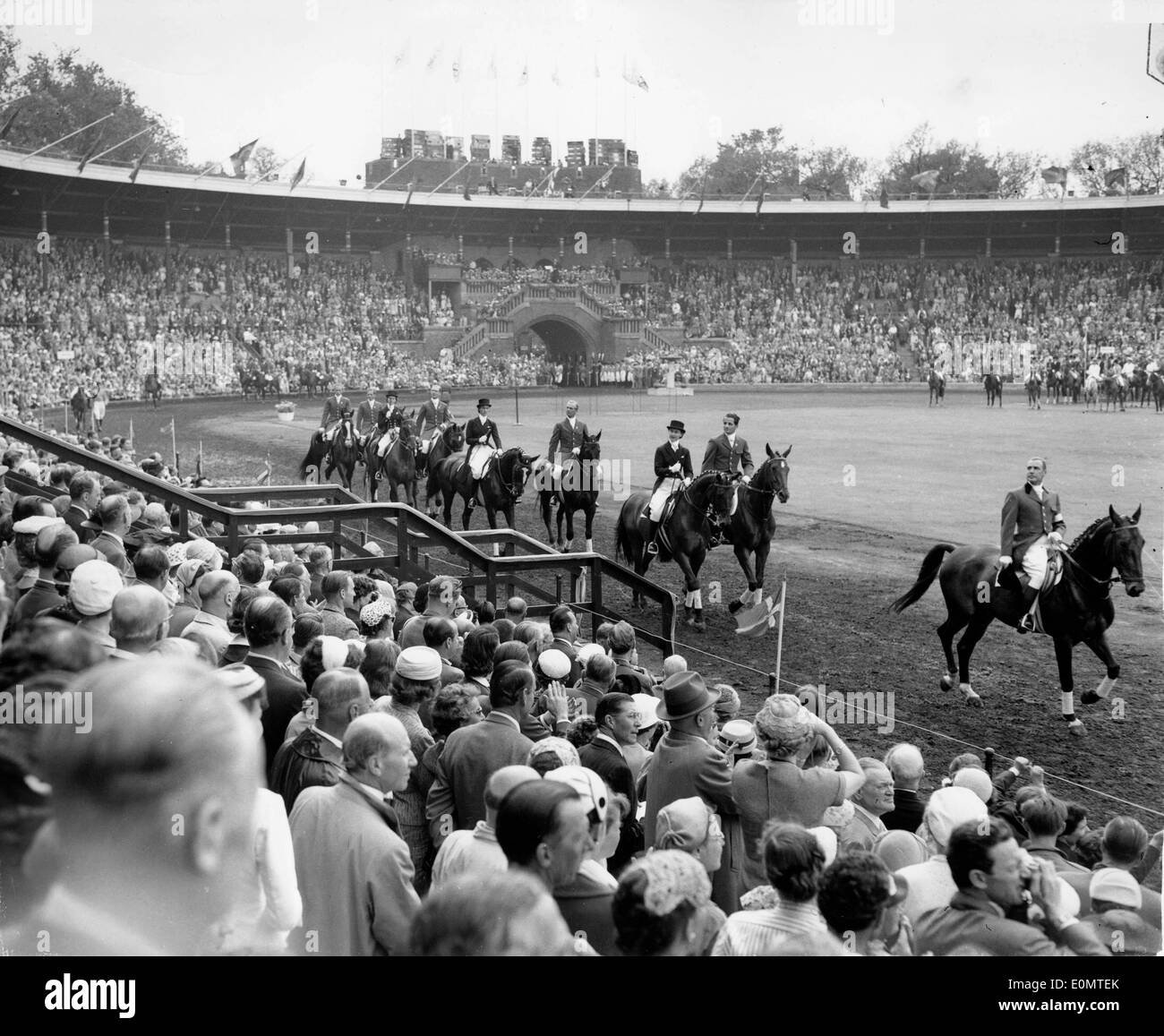 Olympic Equestrian Games in Stockholm 1956 - Stock Image