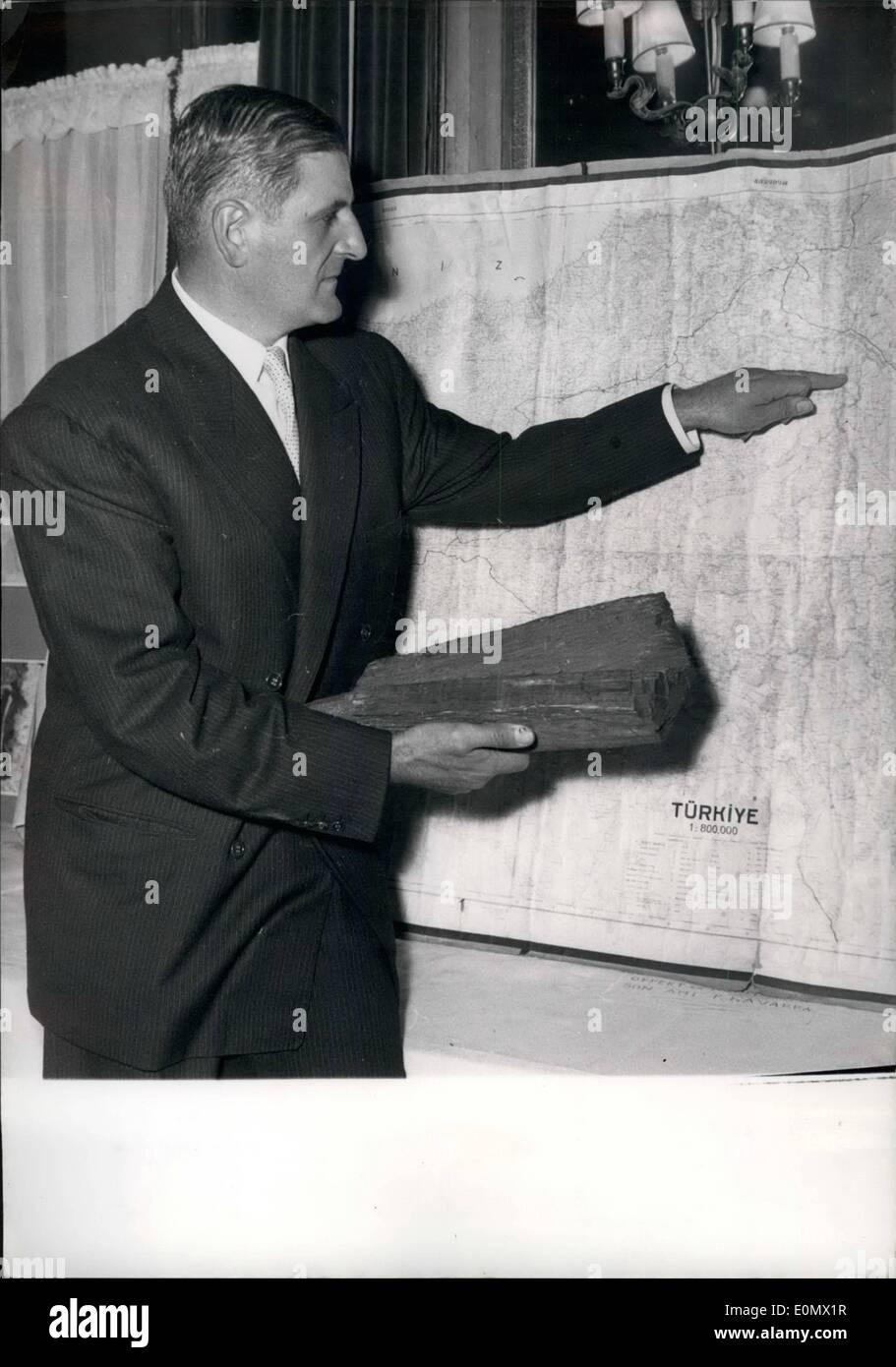 Oct. 10, 1956 - Michel Poinareff Folk Singer - Stock Image