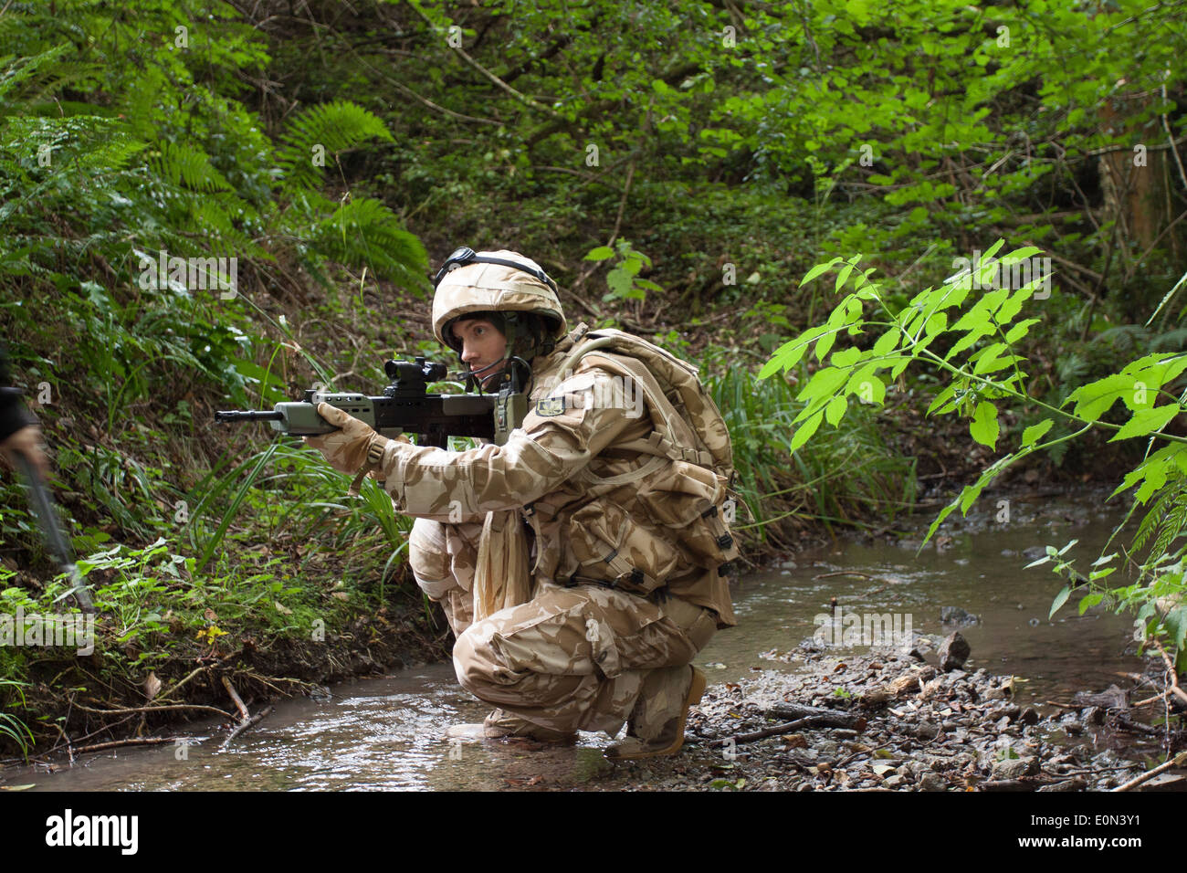 Soldiers in full British Army Uniform - Stock Image