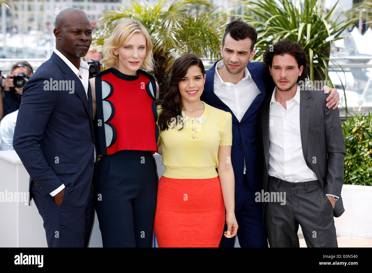 Cannes france 16th may 2014 actor djimon hounsou actress cate actor djimon hounsou actress cate blanchett actress america ferrera actors jay baruchel and kit harington during the how to train your dragon 2 ccuart Image collections
