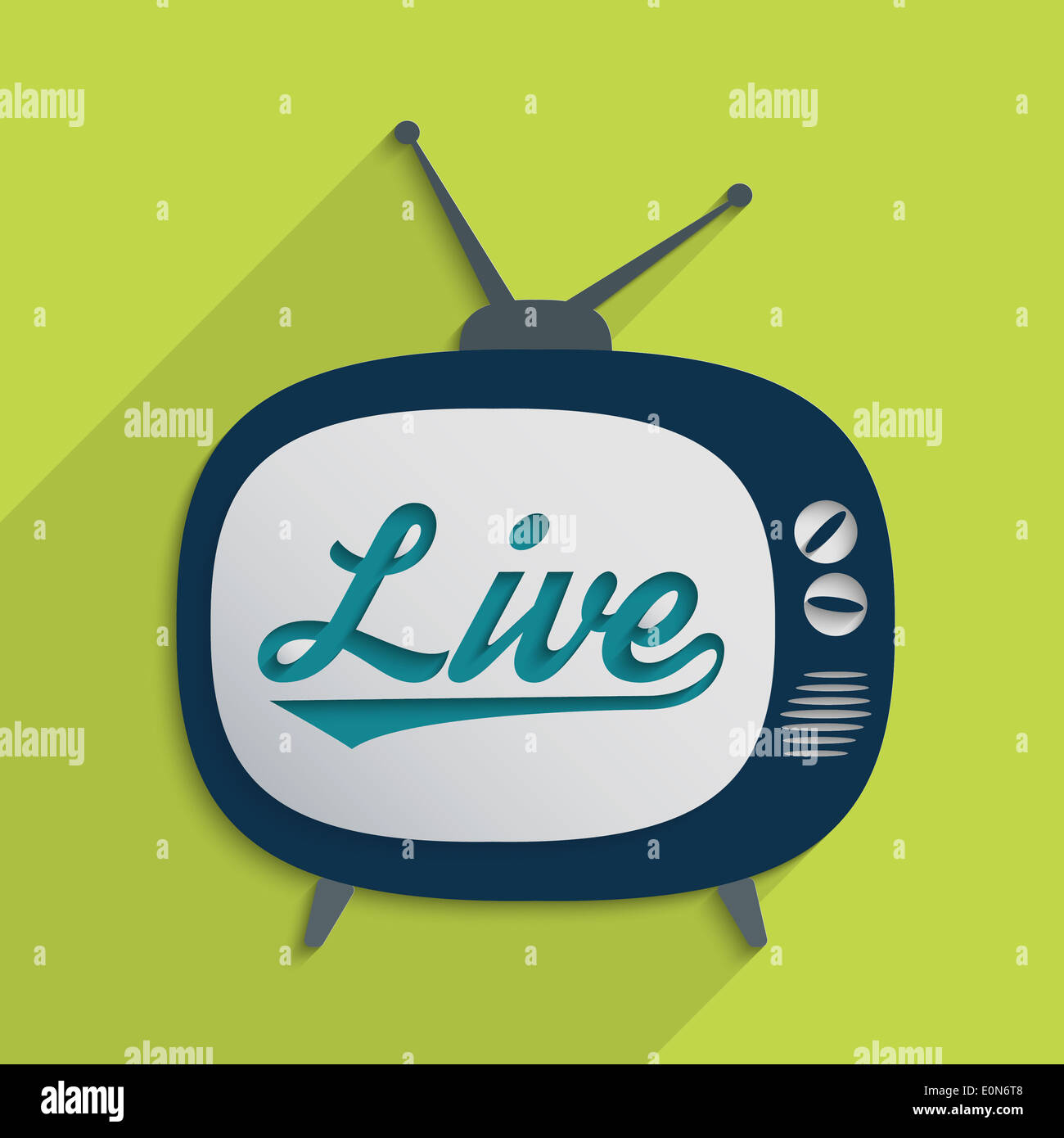 Concept for mass media, global village, information technology and livestream. Flat design illustration. - Stock Image