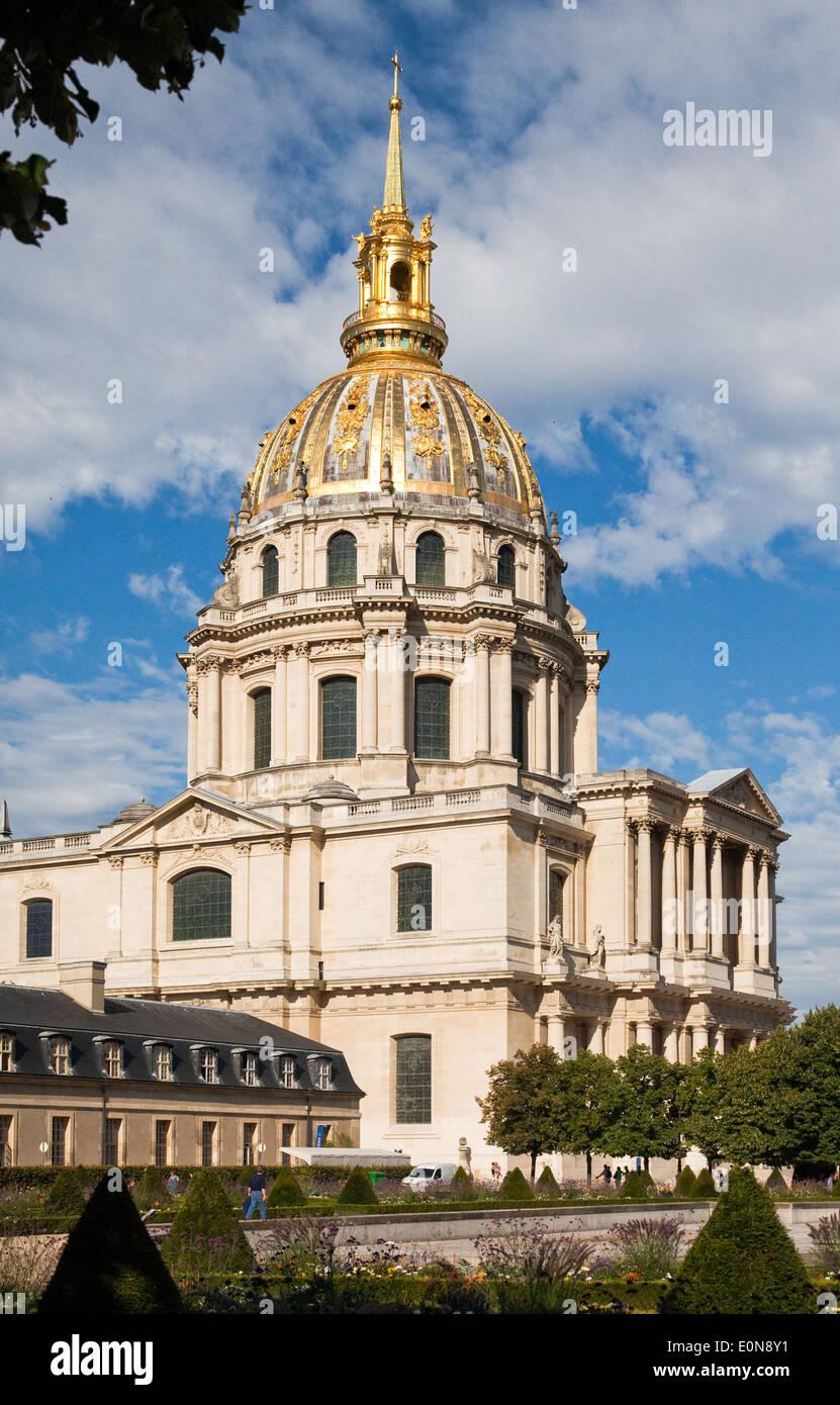 Dome des Invalides at Esplanade des Invalides, Paris, France Stock Photo