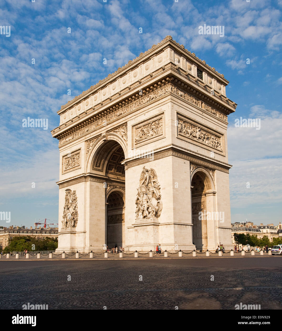 Arc de Triomphe an der Champs-Elysees, Paris, Frankreich - Arc de Triomphe at Champs-Elysees, France, Paris - Stock Image