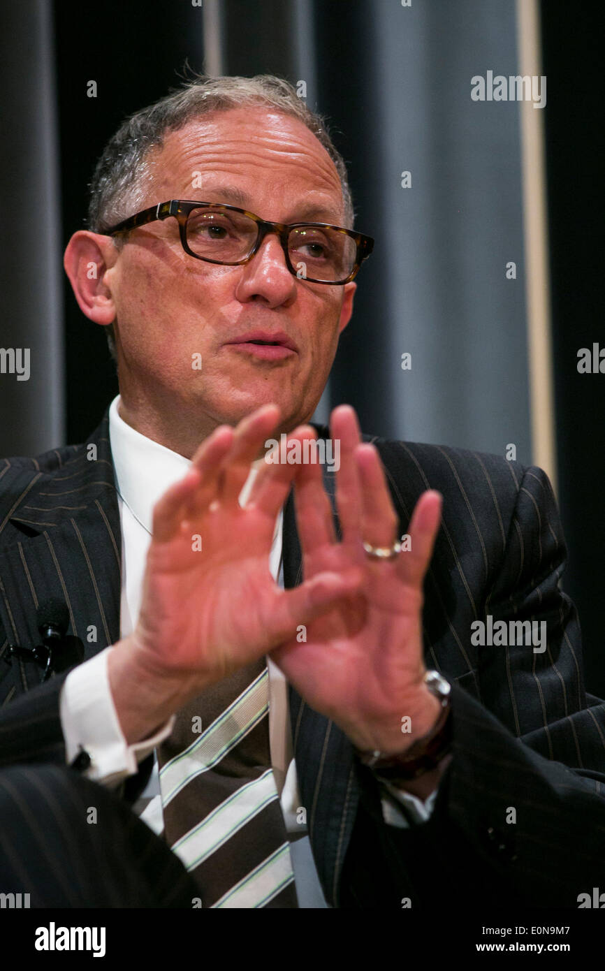 Washington DC, USA. 16th May 2014. Fred Hochberg, Chairman and President of the United States Export-Import Bank, participates in a panel discussion on 'How Infrastructure Investment In Developing Countries Can Spur Economic Growth' at the International Finance Corporation headquarters in Washington, D.C. on May 16, 2014. Credit:  Kristoffer Tripplaar/Alamy Live News - Stock Image