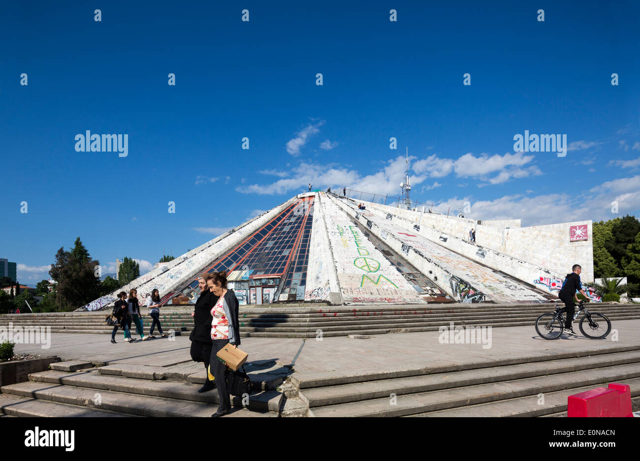 The Pyramid of Tirana, Albania - Stock Image