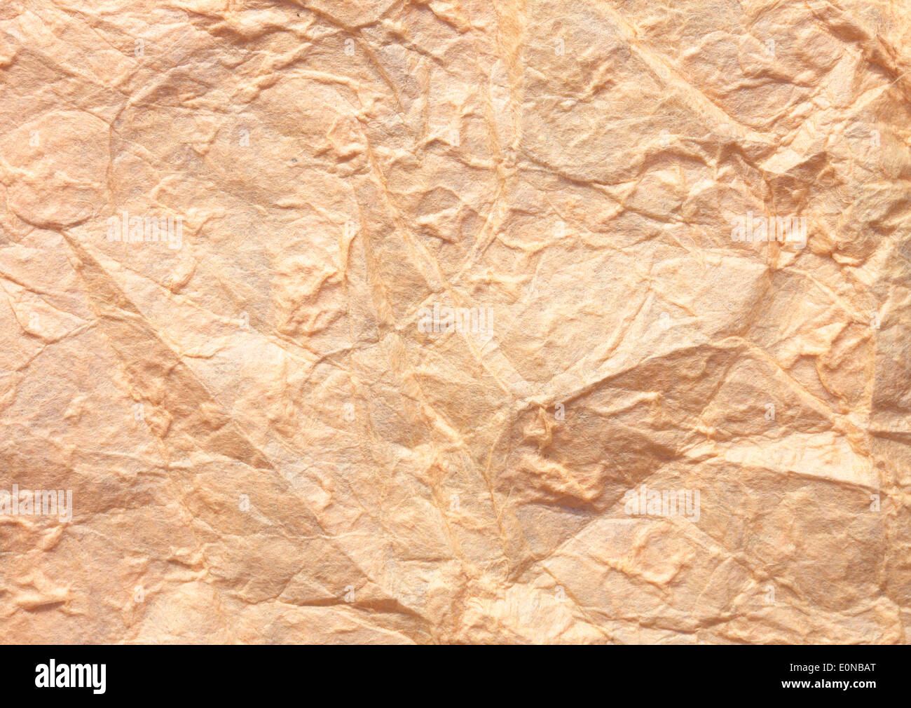 Paper texture brown paper sheet. Sheets of crumpled paper. - Stock Image