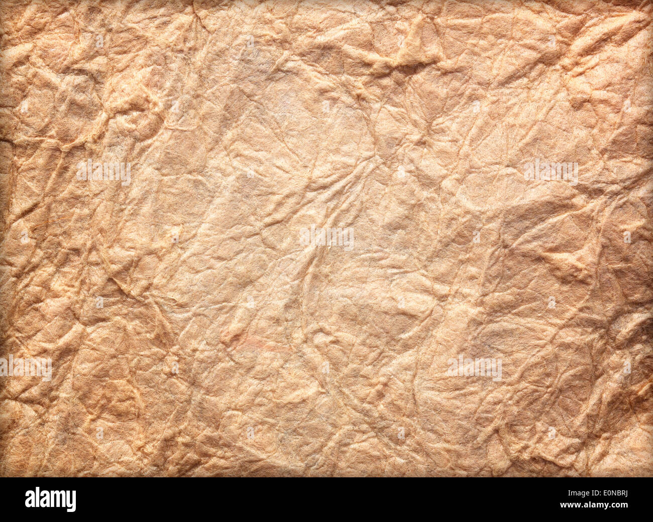 Paper texture brown paper sheet. Sheets of crumpled paper - Stock Image