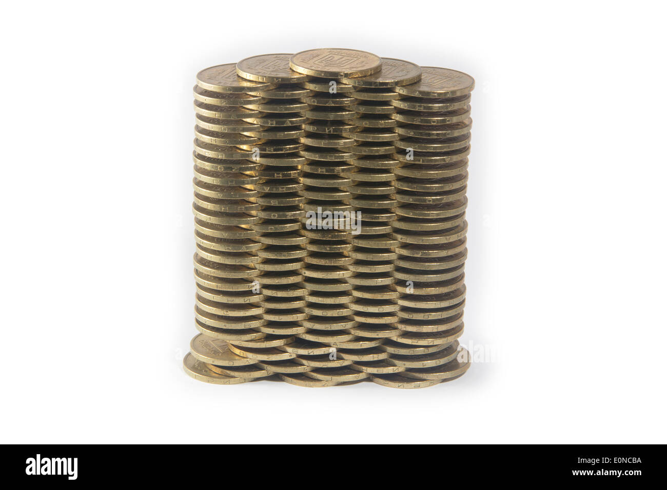Coins by the levels - Stock Image