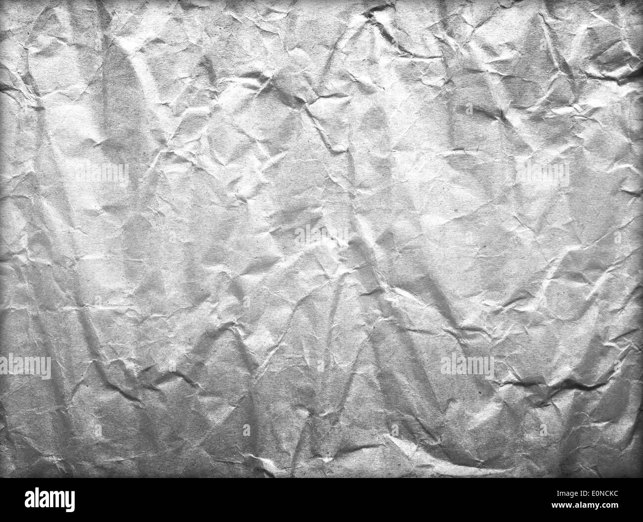 Abstract black crumpled sheet of paper old - Stock Image