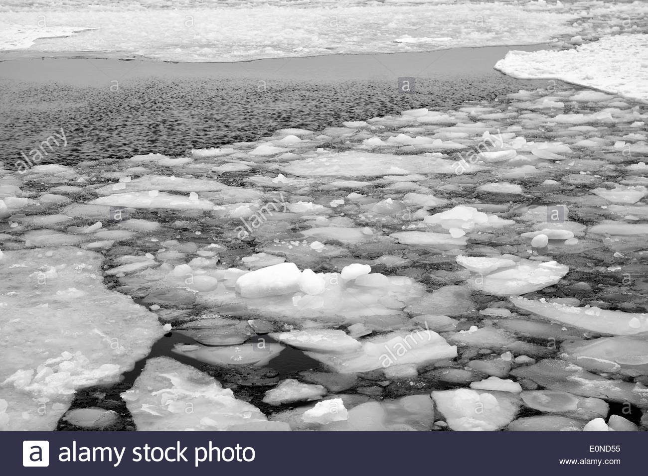 Winter in The Baltic Sea - Stock Image