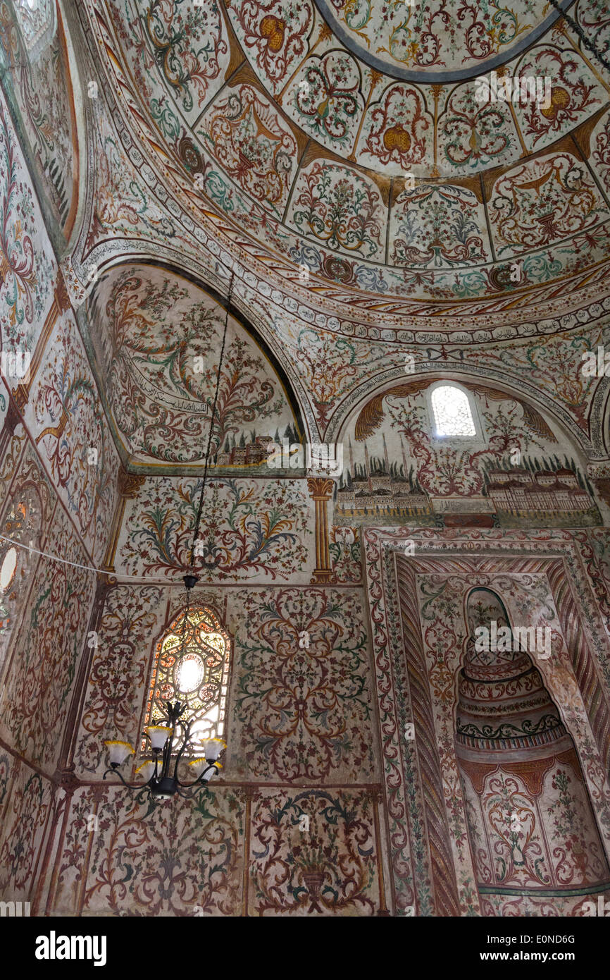 painting inside Et'hem Bey Mosque, Tirana, Albania - Stock Image