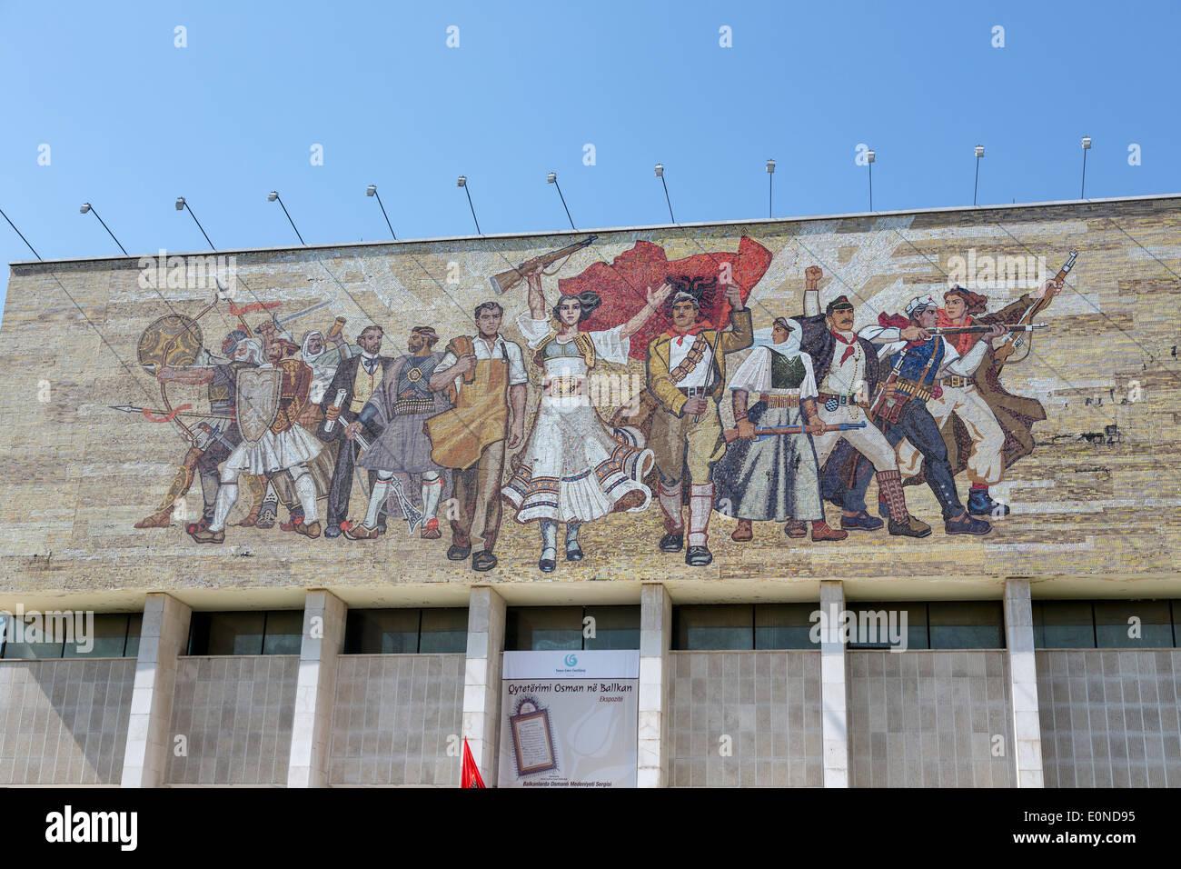 The National Historical Museum, Skanderbeg Square, Tirana, Albania - Stock Image
