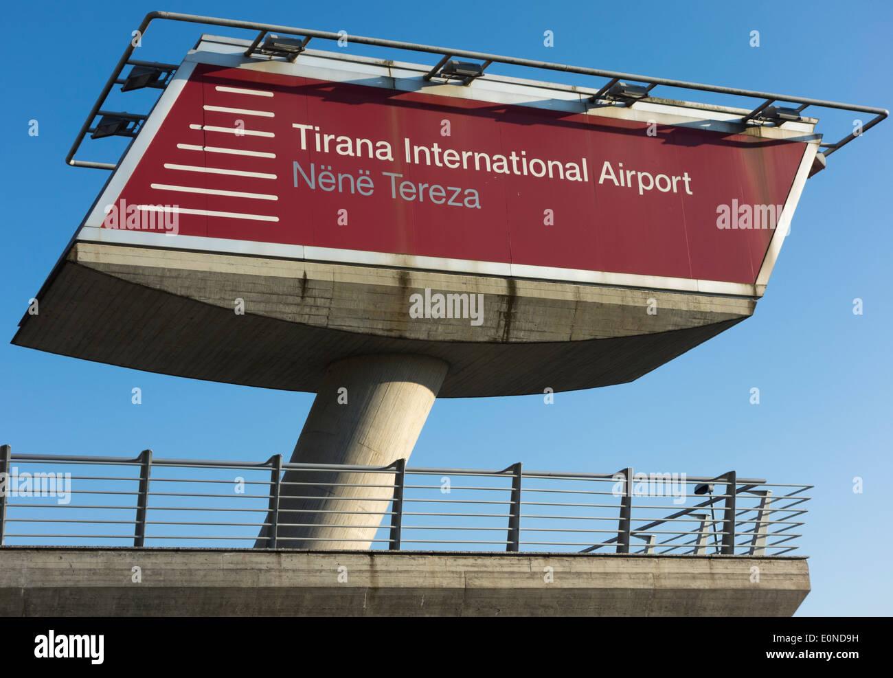 Mother Teresa International Airport, Tirana, Albania - Stock Image