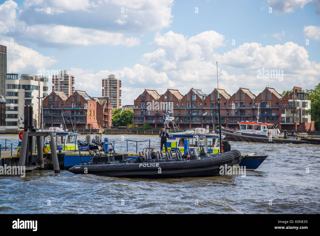 Marine Police Force, also known as the Thames River Police, Tower Hamlets, London, UK - Stock Image
