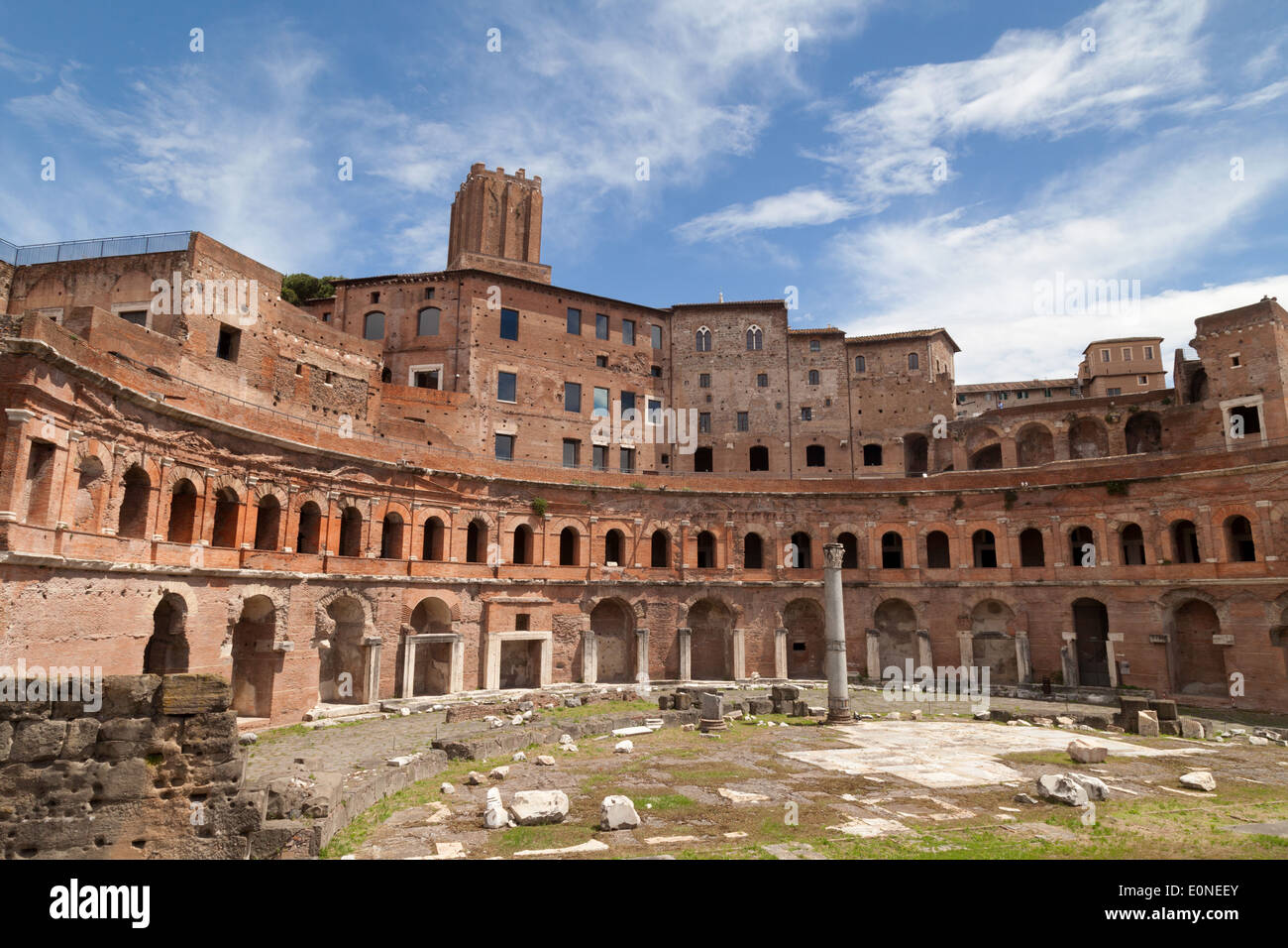 Emperor  Trajans Markets, part of the Roman Forum, ancient Rome Italy Europe - Stock Image