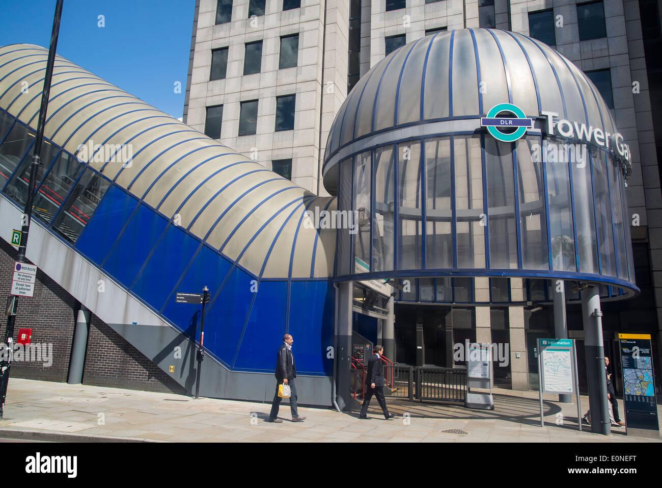 Tower Gateway DLR station, Tower Hamlets, London, UK - Stock Image