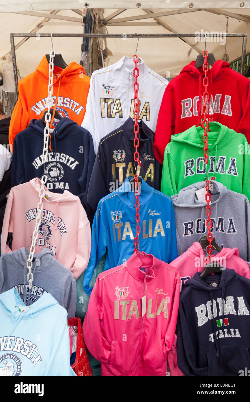 Rome Italy shirts for sale as gifts and souvenirs, Rome, Italy Europe - Stock Image