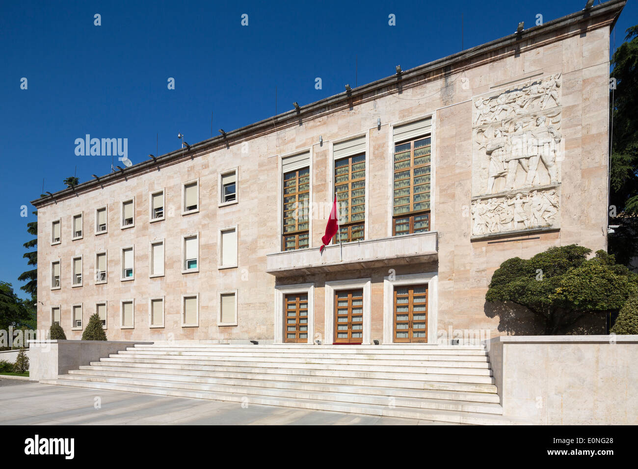 Residence of the prime MInister, Tirana, Albania - Stock Image