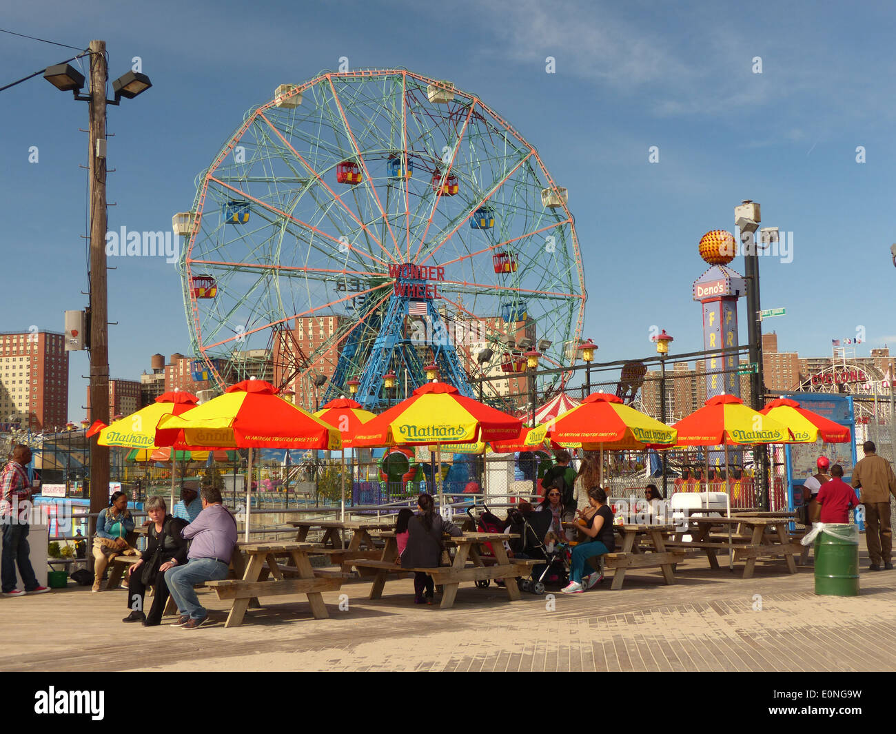 Coney Island, New York out of season - Stock Image