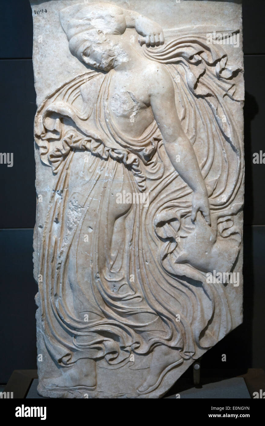 Relief with dancing Maenad, Capitoline Museums, Rome, Italy Stock Photo