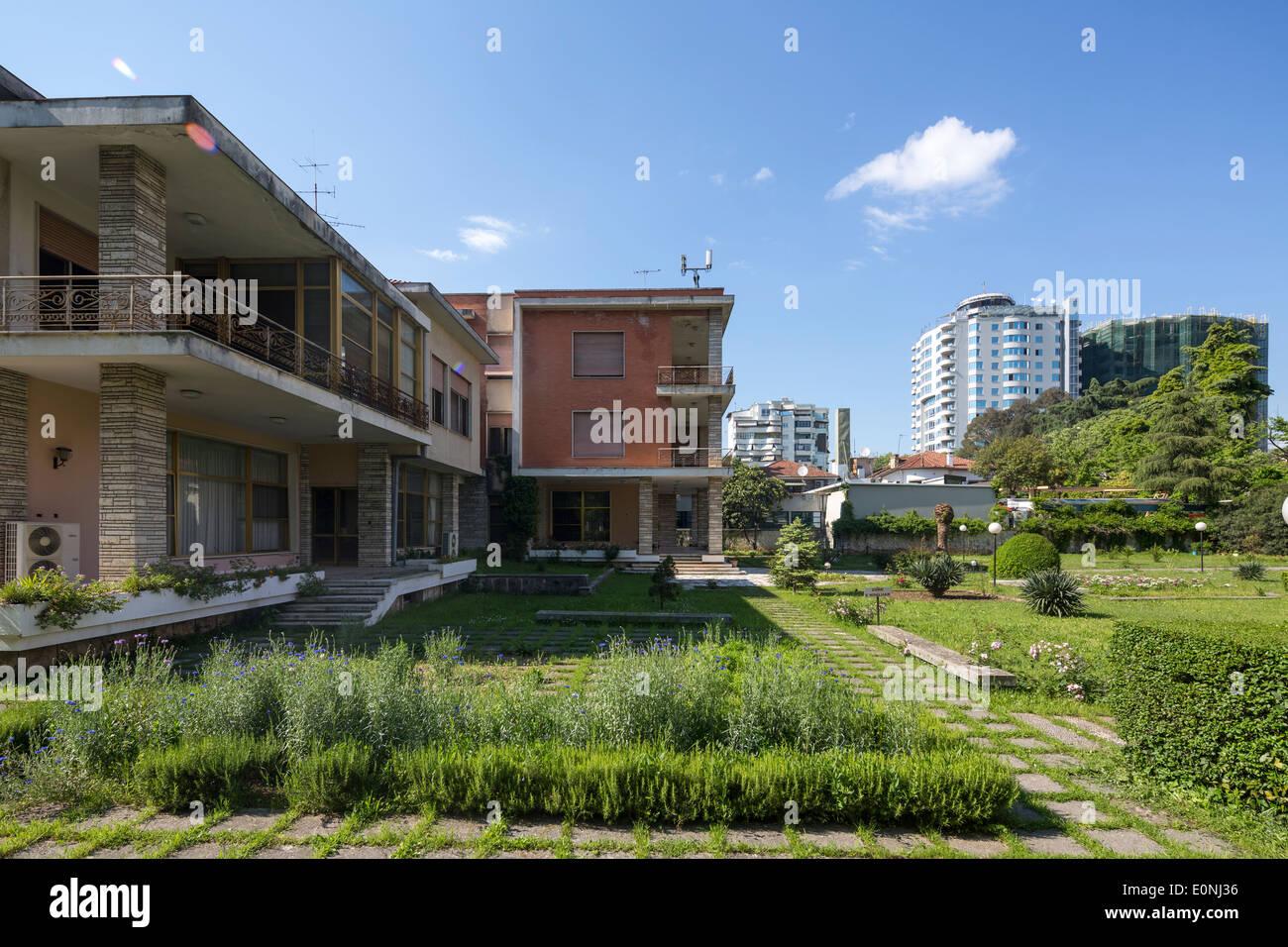 Former Residence of Enver Hoxha, Blloku District, Tirana, Albania - Stock Image