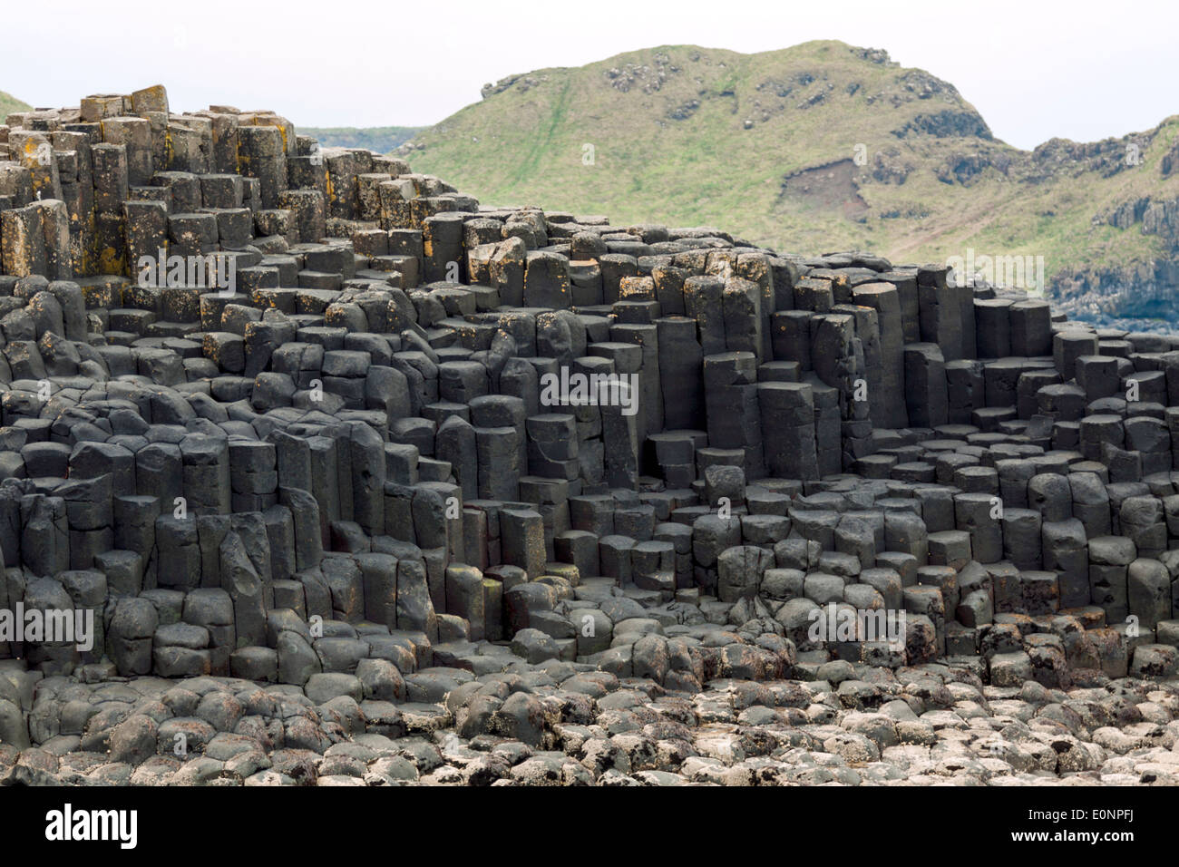 Giant's Causeway, a world-famous UNESCO World Heritage Site, situated on the Antrim coast of Northern Ireland, United Kingdom. - Stock Image