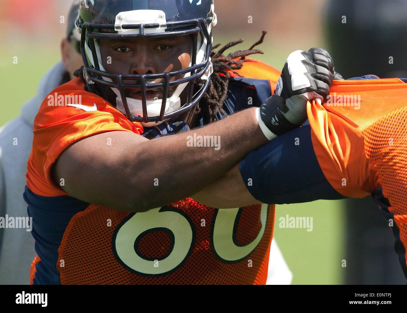Englewood, Colorado, USA  17th May, 2014  Denver Broncos DT
