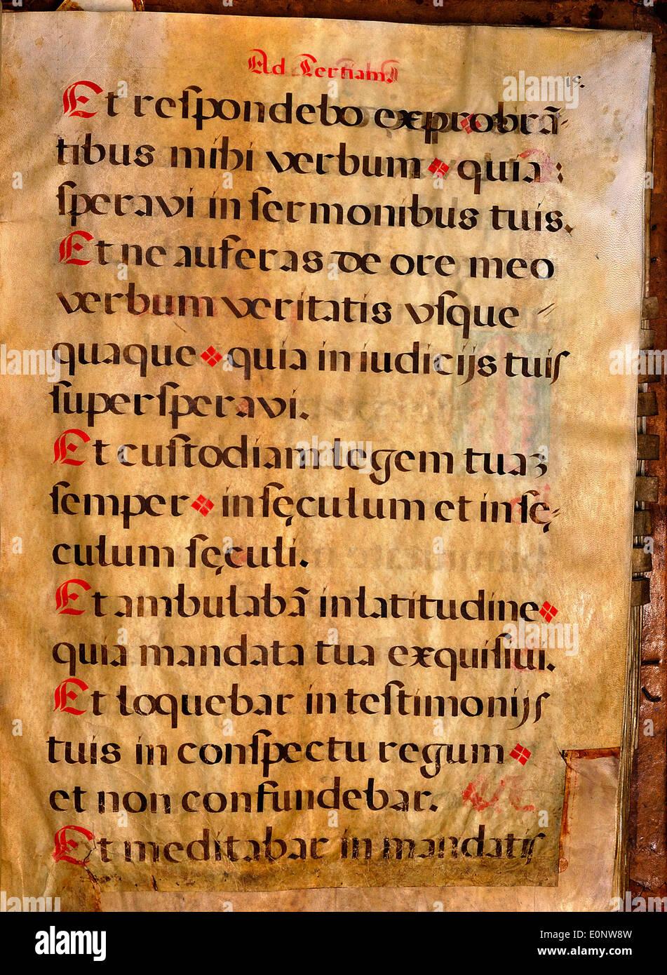 Spanish Chant Manuscript page 036 Stock Photo: 69322313 - Alamy