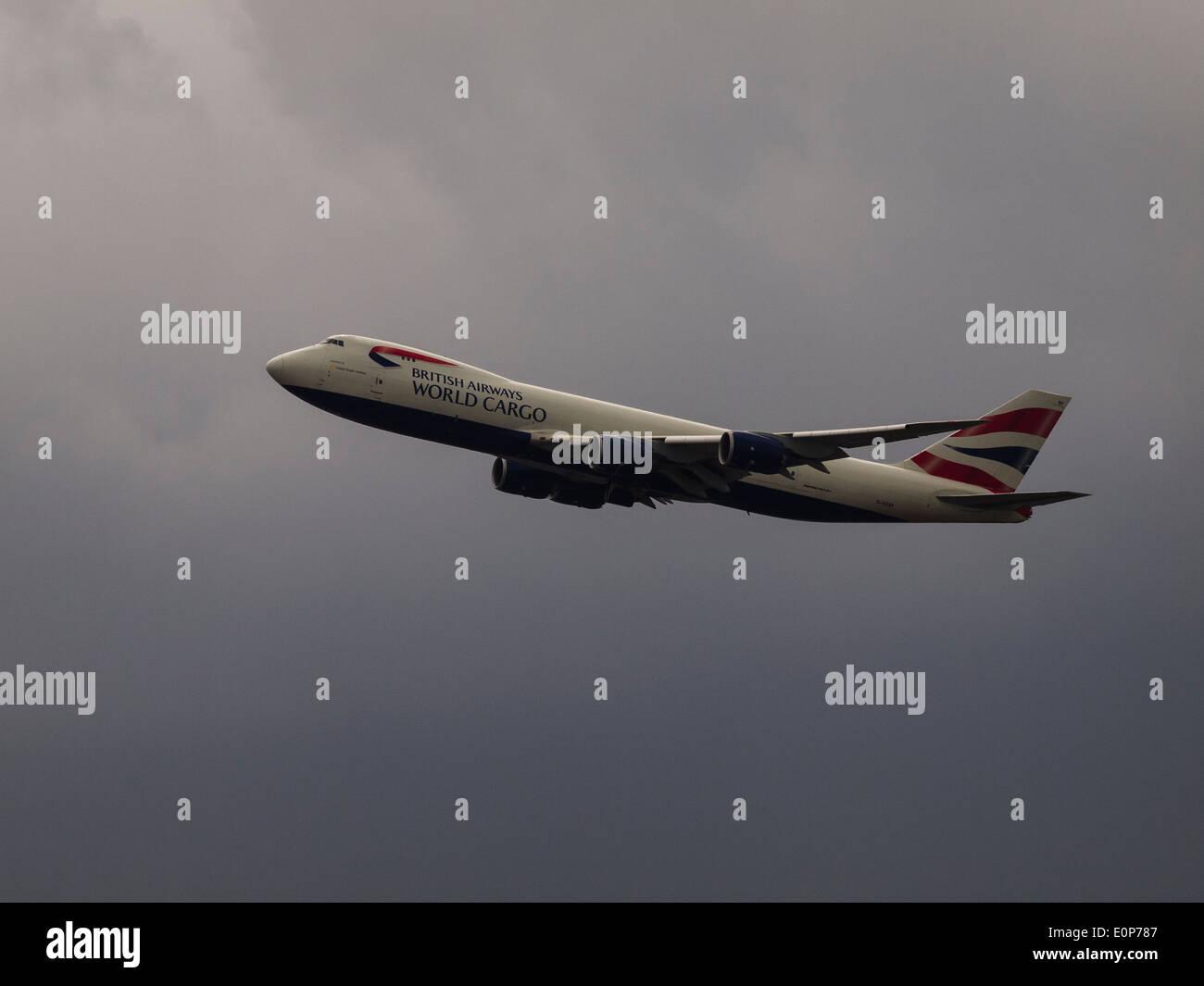 British Airways, Boeing 747-87, G-GSSF, Cargo Plane - Stock Image