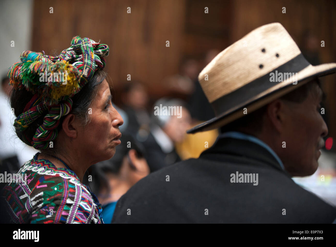 Ex-Guatemalan dictator Rios Montt goes on trial for Genocide, Guatemala City, Guatemala. - Stock Image