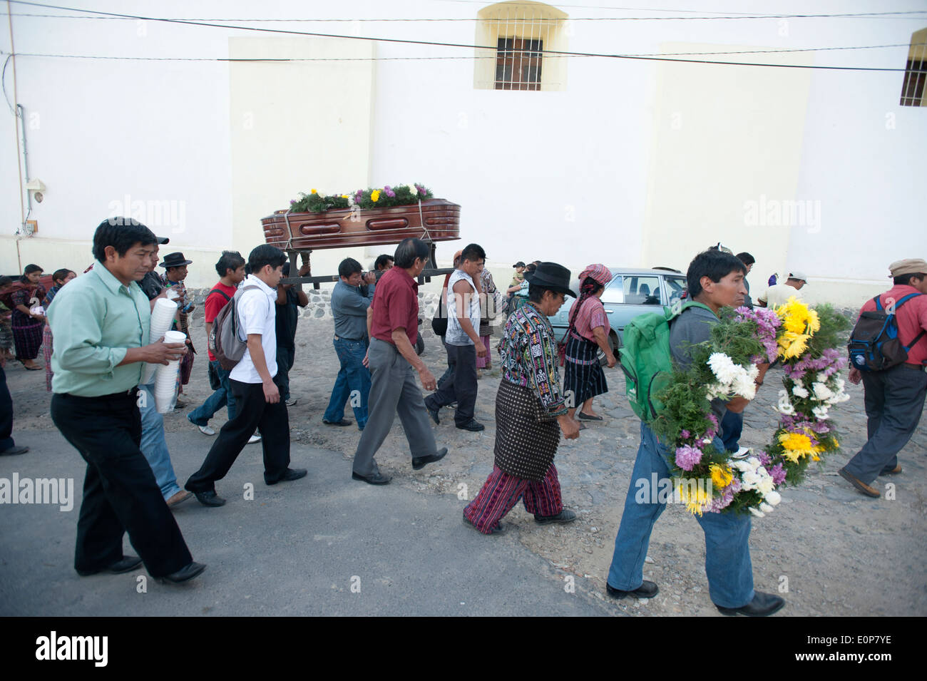Funeral, San Jorge La Laguna, Solola, Guatemala. - Stock Image
