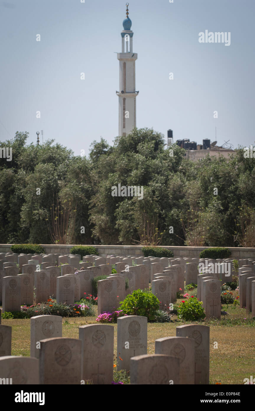The Commonwealth Gaza War Graves at Gaza City, Gaza Strip, Palestinian Territories. - Stock Image