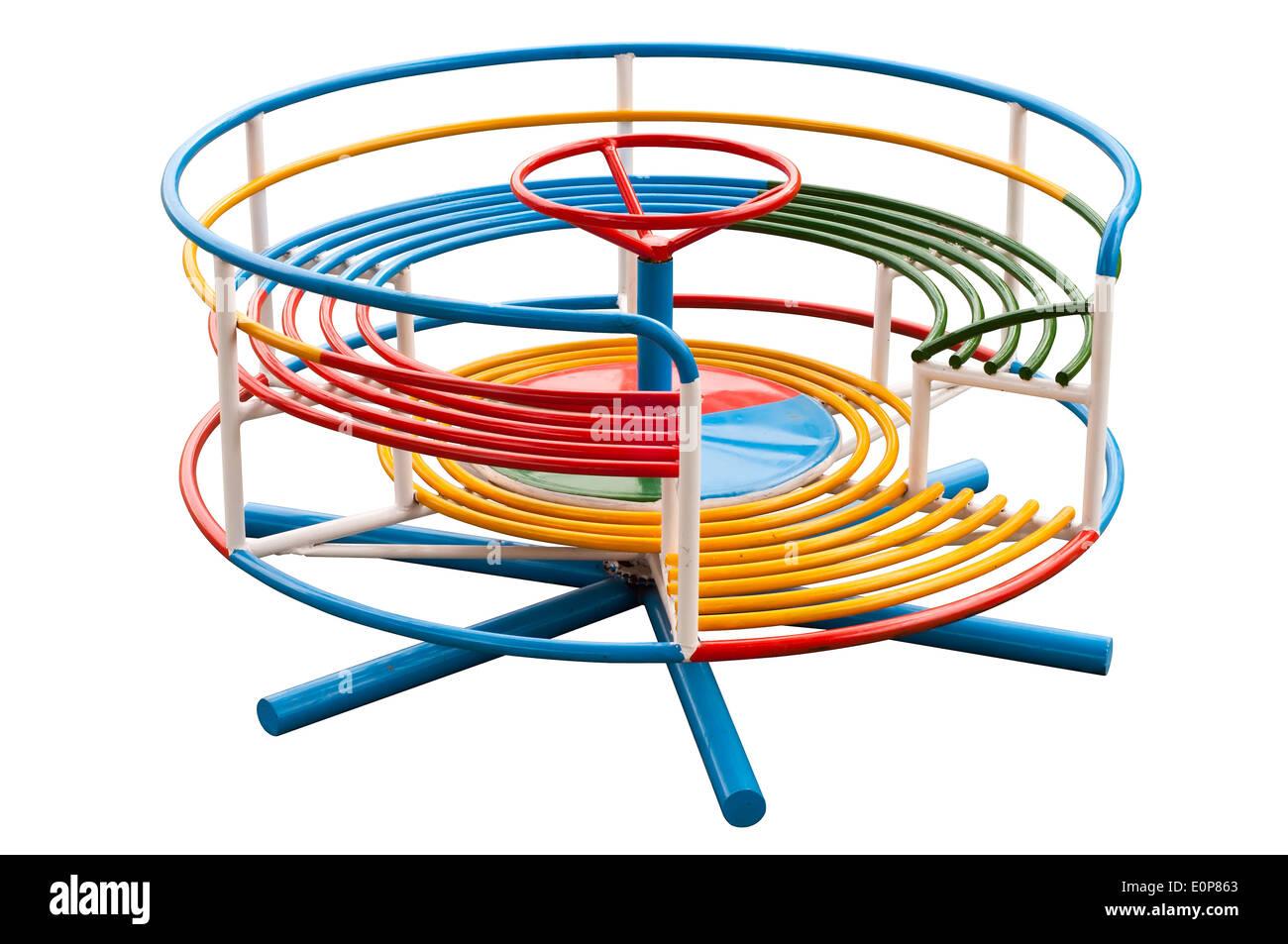 Merry-go-round isolated. - Stock Image
