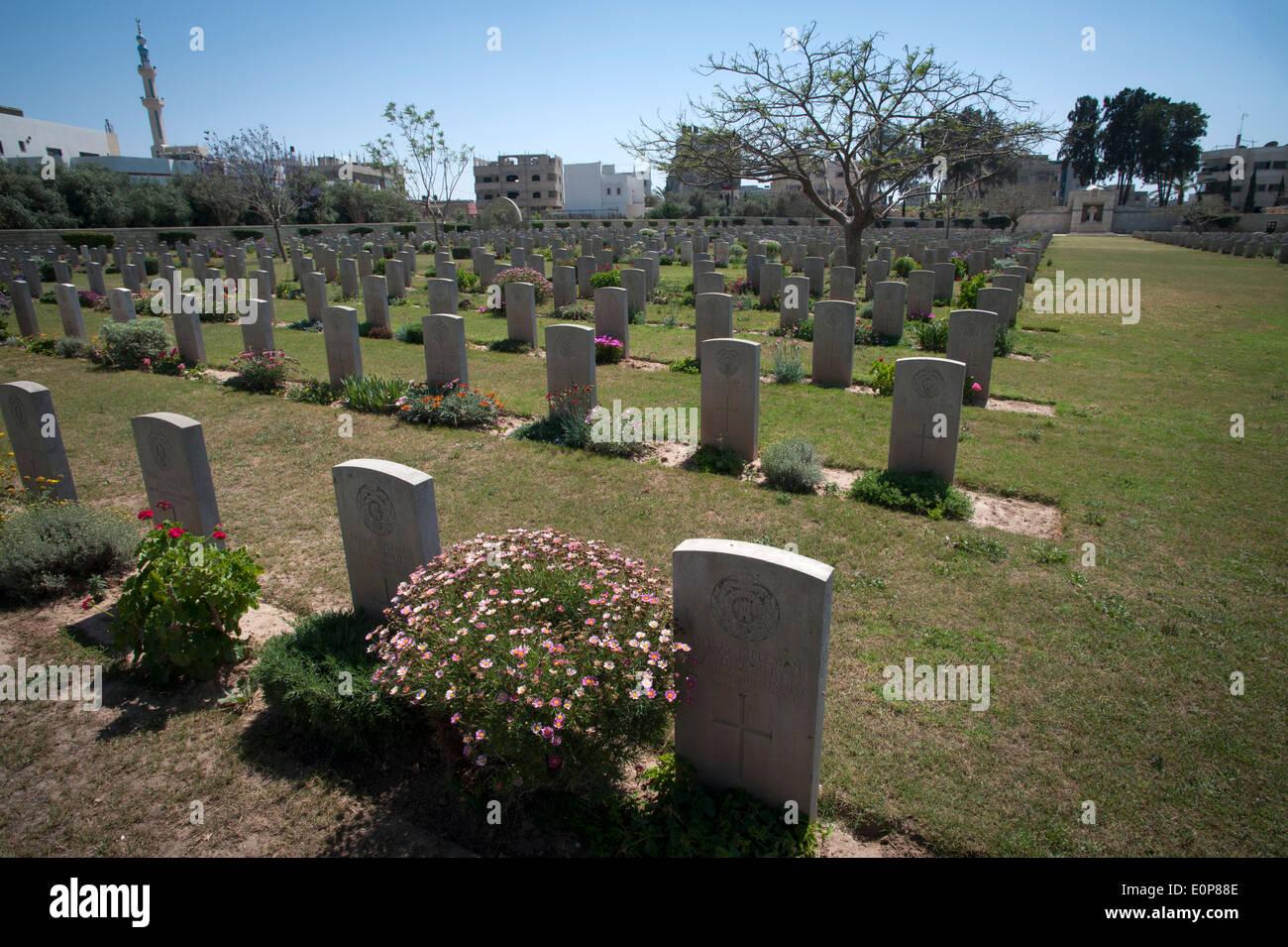 Commonwealth Gaza War Cemetery in Gaza City, Gaza Strip, Palestinian Territories. - Stock Image