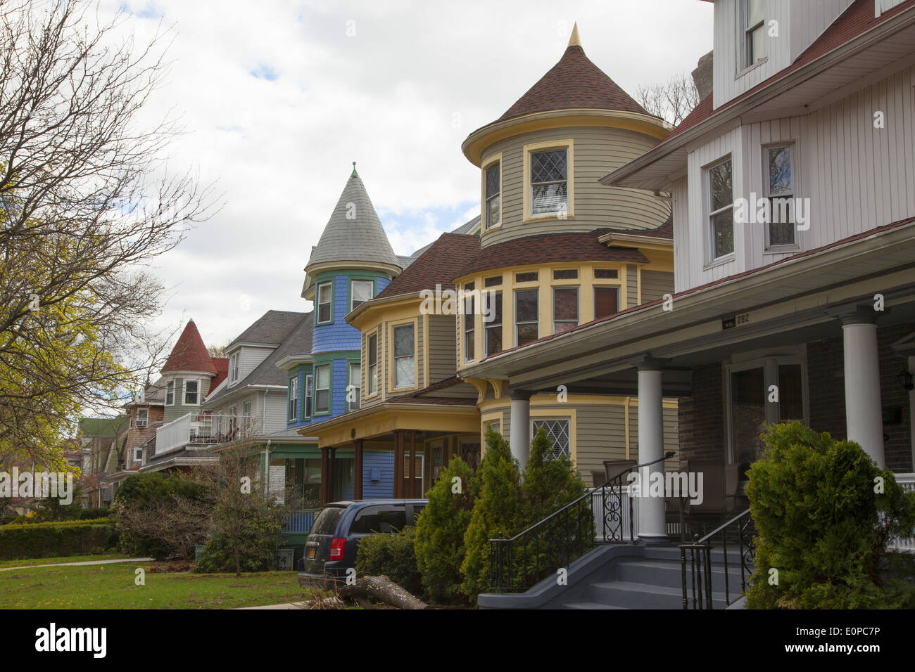 rambling old victorian style homes distinguish the ditmas park stock rh alamy com