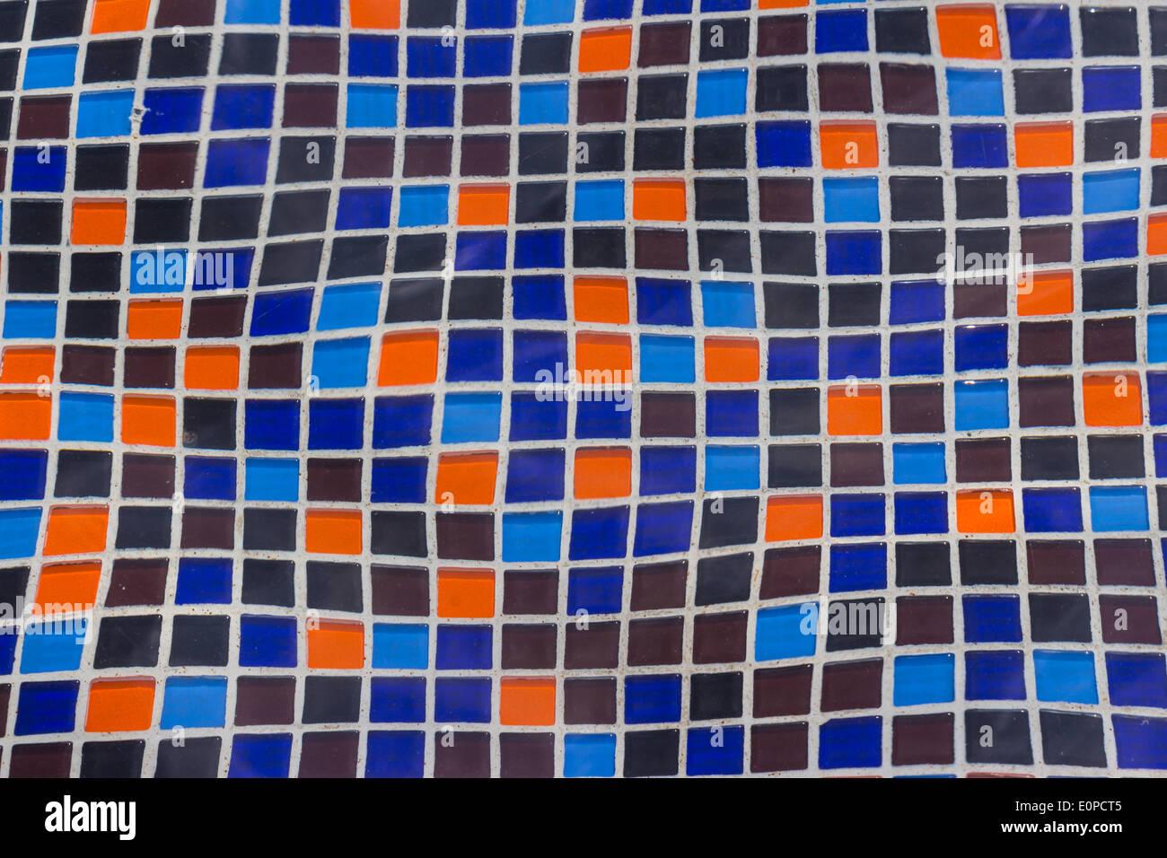 ceramic tile mosaic in swimming pool - seamless texture Stock Photo ...