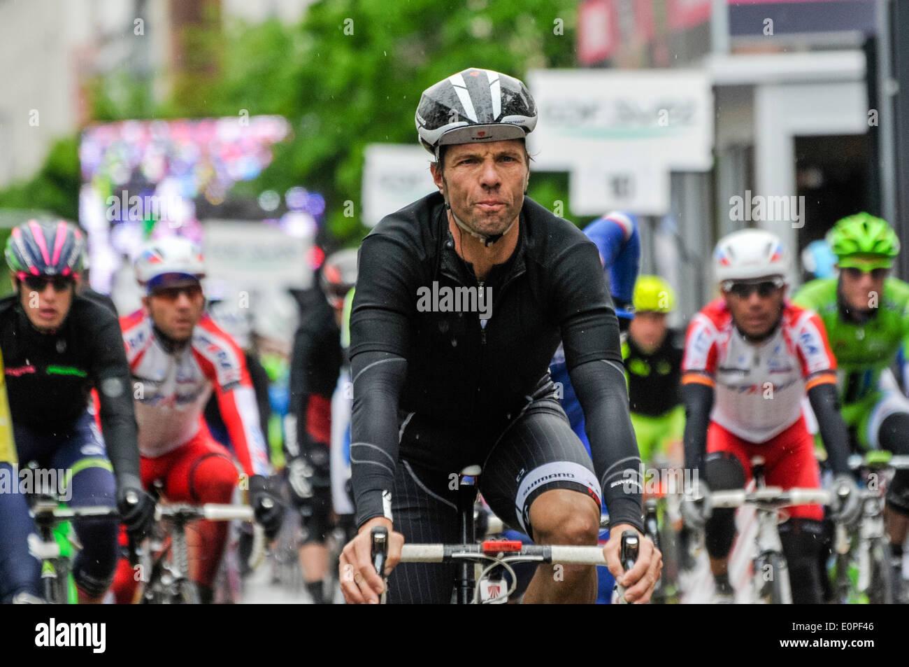 Belfast, Northern Ireland. 10 May 2014 - Luka Mezgec (Slovenia, Team Giant Shimano) - Stock Image