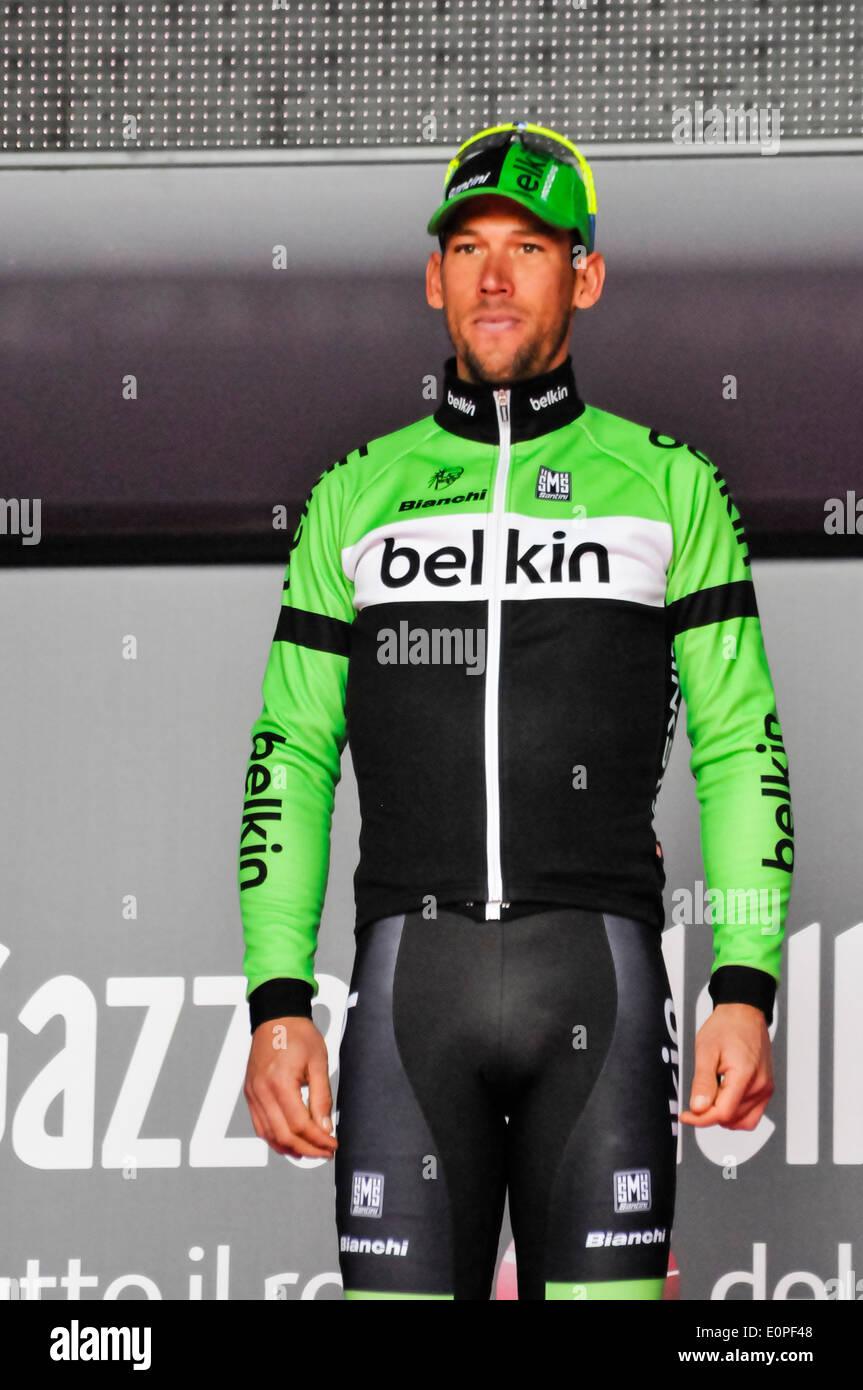 Belfast, Northern Ireland. 10 May 2014 - Maarten Tjallingii (Team Belkin Pro Racing) - Stock Image