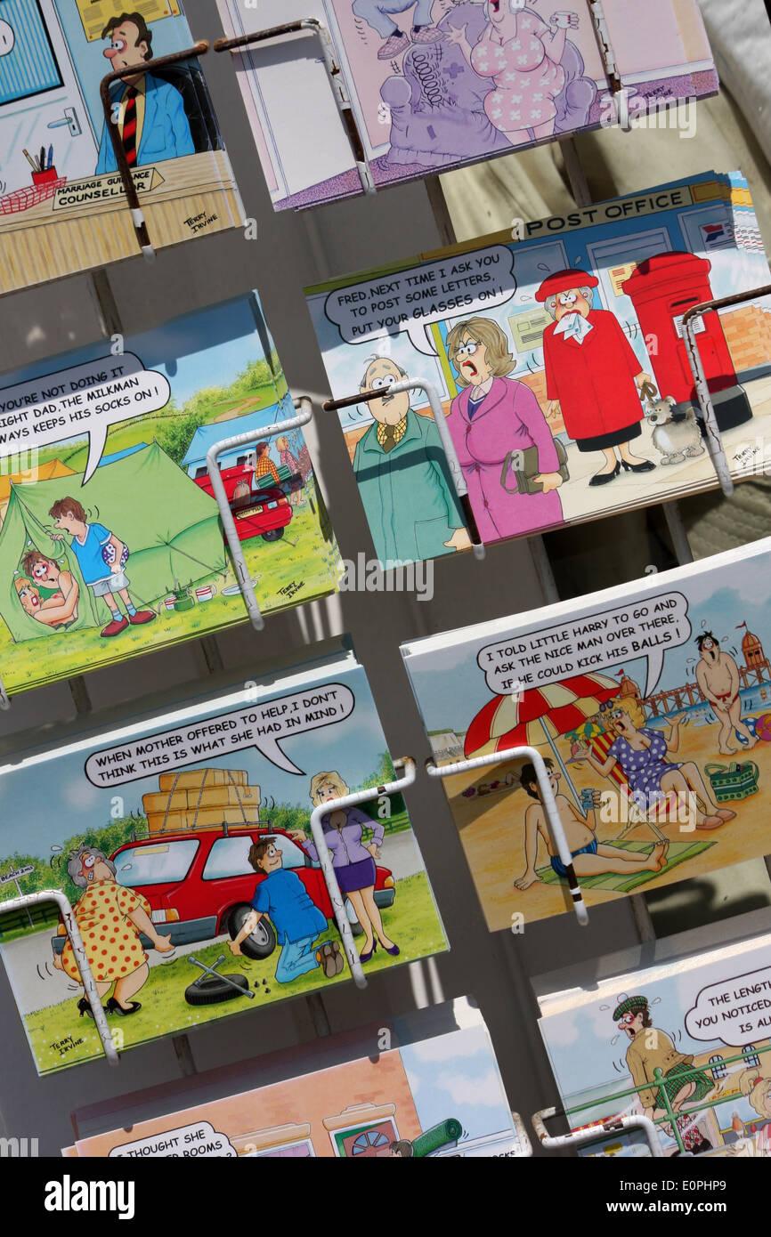 Seaside Postcards - Stock Image