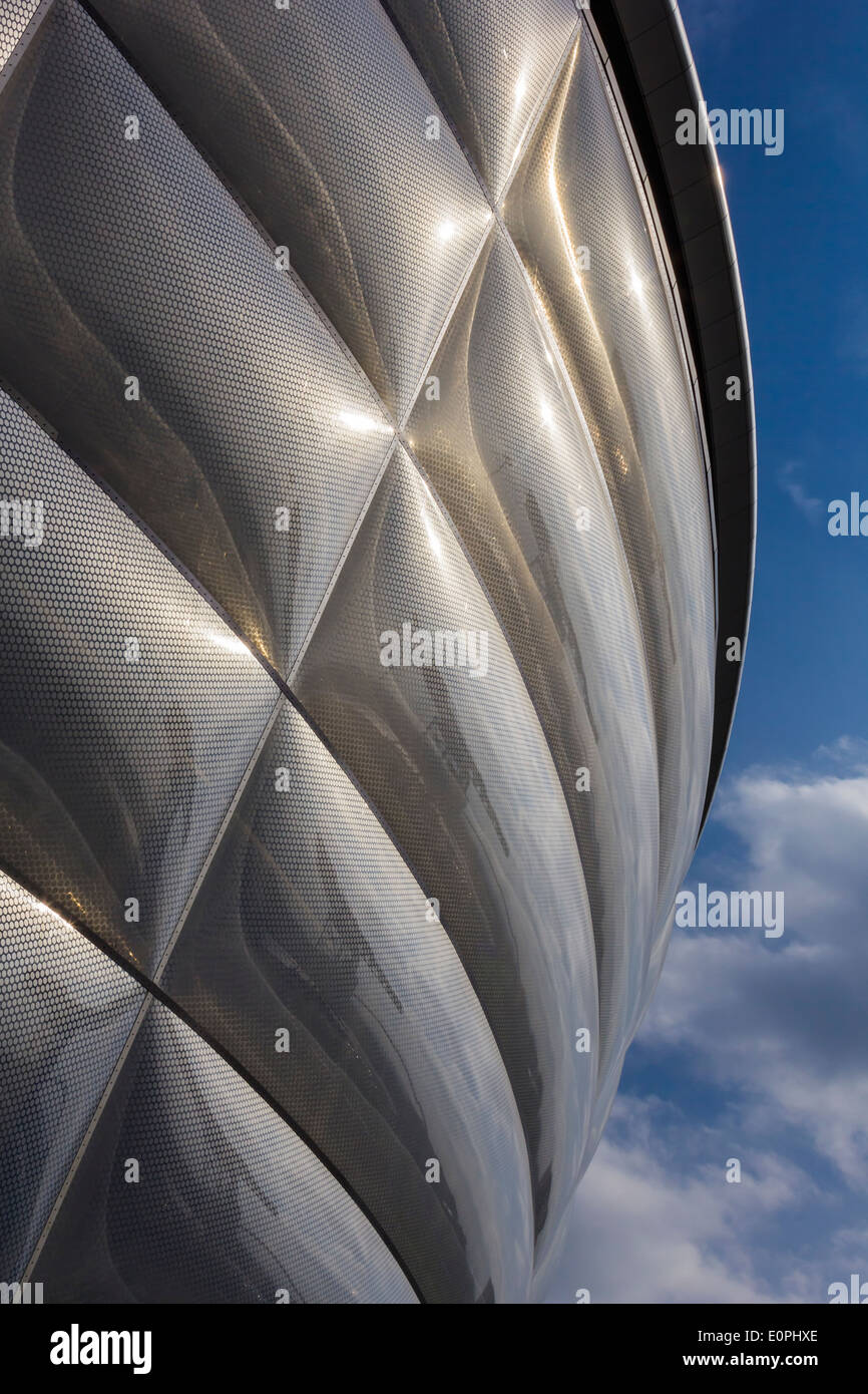 close up of the sec hydro scotlands largest entertainment venue - Stock Image