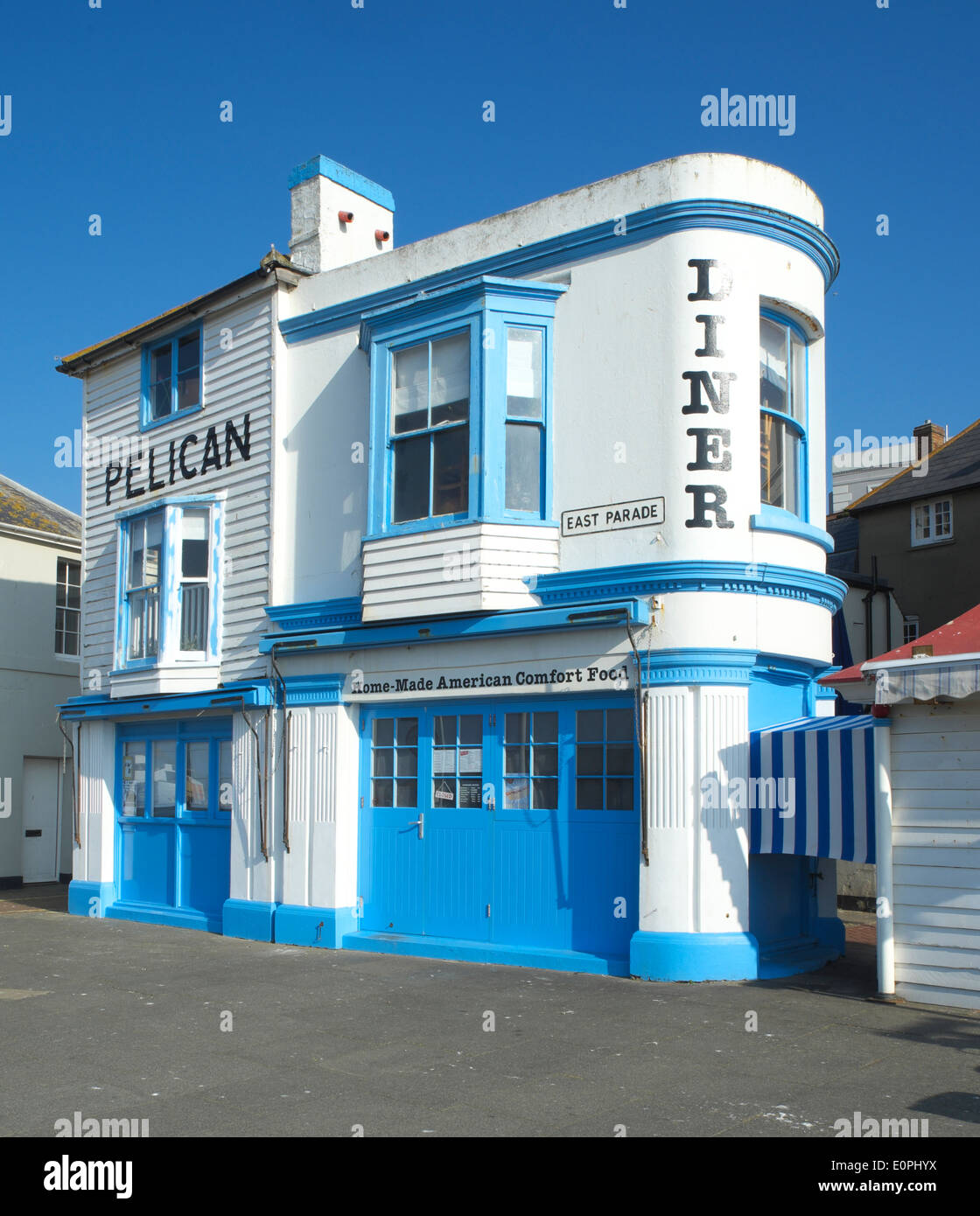Art Deco Diner Hastings East Sussex England GB UK - Stock Image