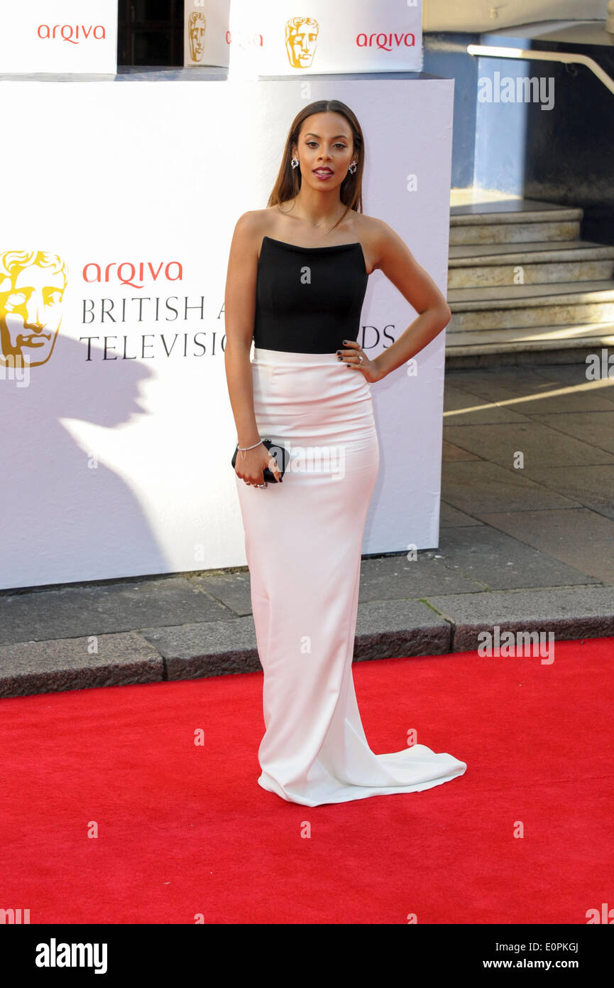 London, UK, 18/05/2014 : The Arqiva BAFTA TV Awards Red Carpet Arrivals.. Persons Pictured: Rochelle Humes. Picture by Julie Edwards - Stock Image