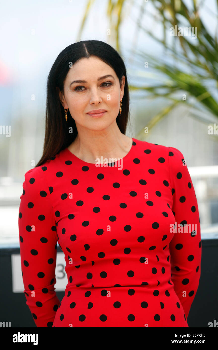 "Actress Monica Bellucci attends the photocall of ""La Meraviglie"" during the 67th Cannes International Film Festival Stock Photo"